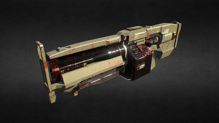 [Fan art] Heavy Assault Rifle from DOOM 3D Model