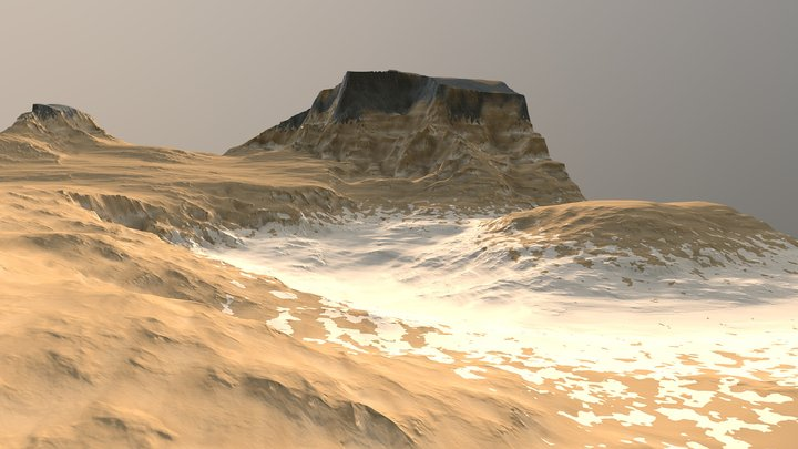 FREE Terrain Sandy Rock 3D Model