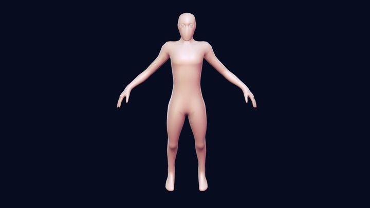 Base Mesh Female/Male Morph Target 3D Model