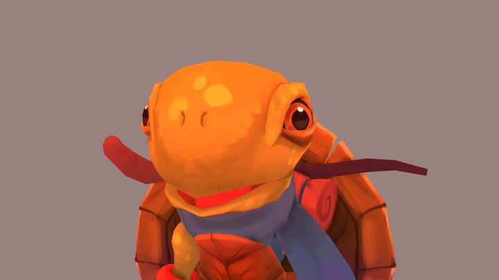 Turtle Adventurer 3D Model