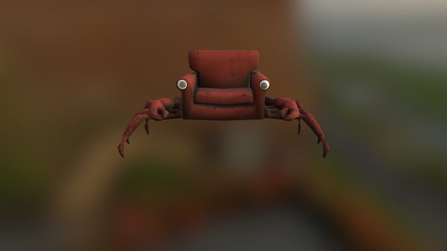 Reading Chair Crab 3D Model