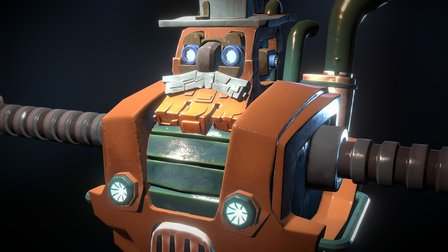 Sizeable Robot Farmer 3D Model