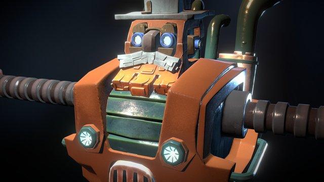 Sizeable Robot Farmer 3D Model