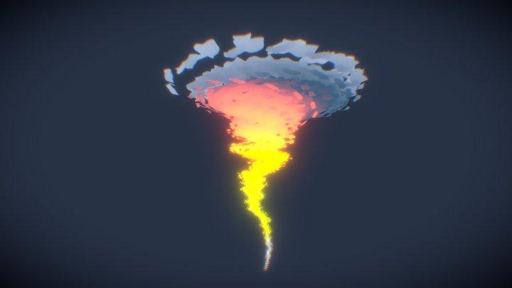 Stylized fire tornado 3D Model