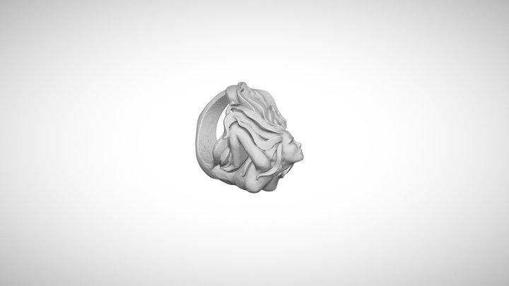 Mermaid Ring 3D Model