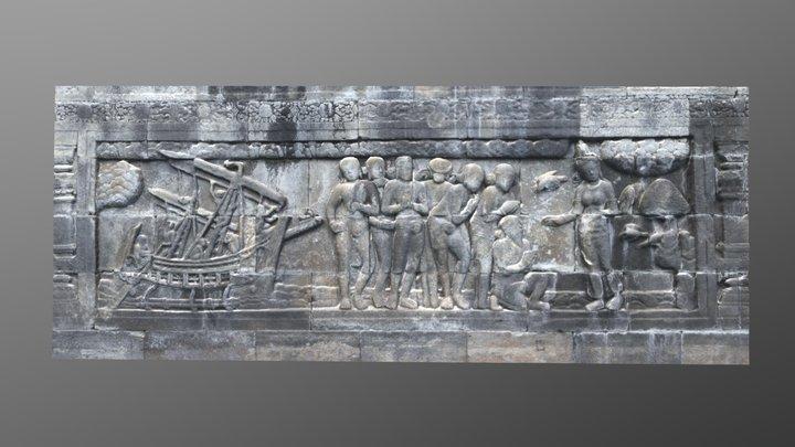Borobudur Bas Relief 3D Model