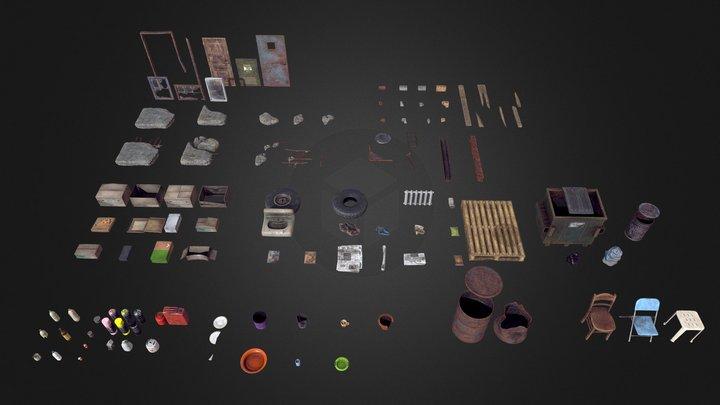Rubble Debris Trash Pack 3D Model