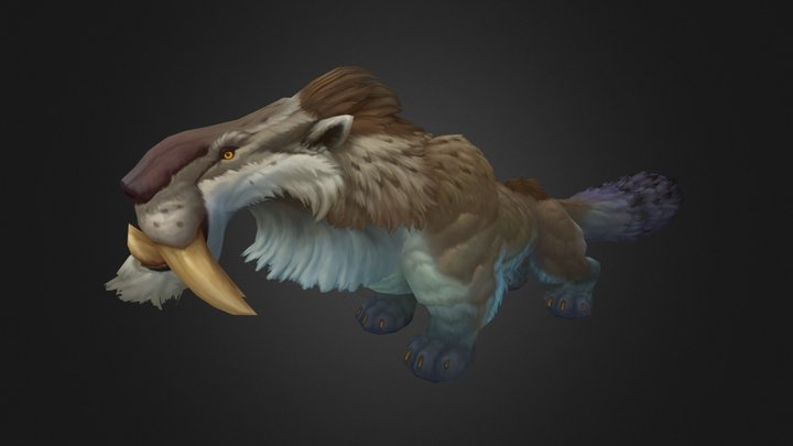 Toothed tiger 3D Model