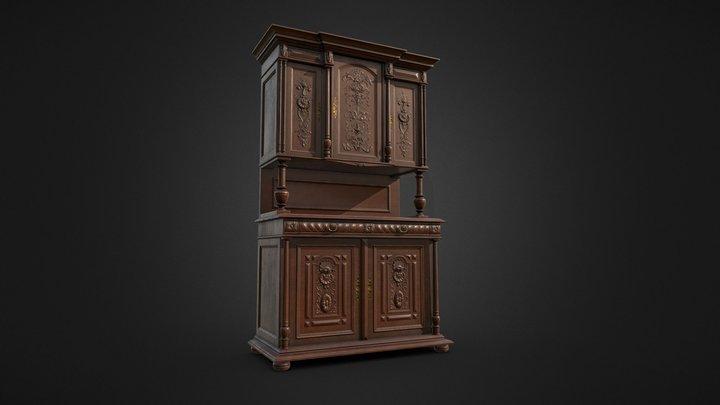 Victorian Antique Cabinet 3D Model