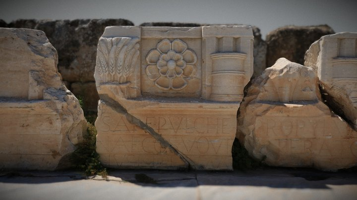 Entablature from the Lesser Propylaea of Eleusis 3D Model