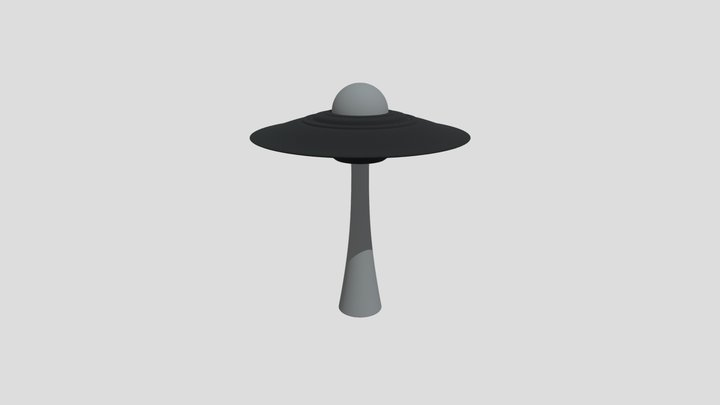 UFO - Hard surface of a science fiction vehicle 3D Model