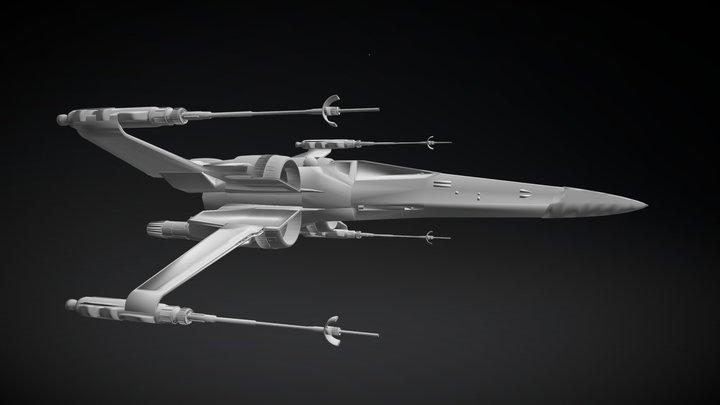Incom T-70 X-Wing - Wings Open 3D Model