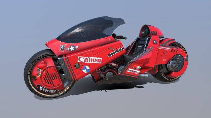 Kaneda's bike from Akira 3D Model