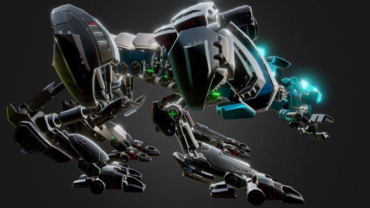 Realistic Sci-Fi Robots 3D Model