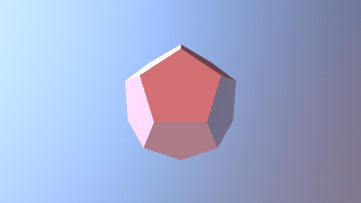Dodecahedron 3D Model