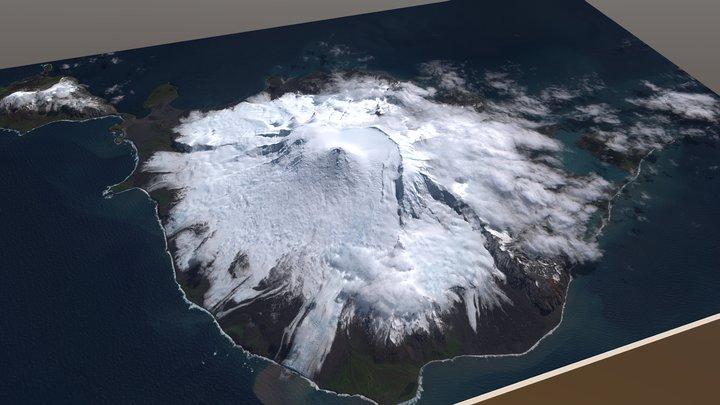Heard Island, Antarctica, Australian Territory 3D Model
