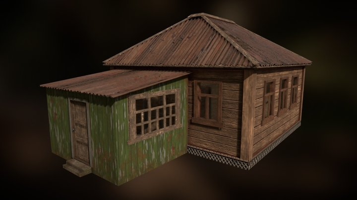 Old Russian house 3D Model