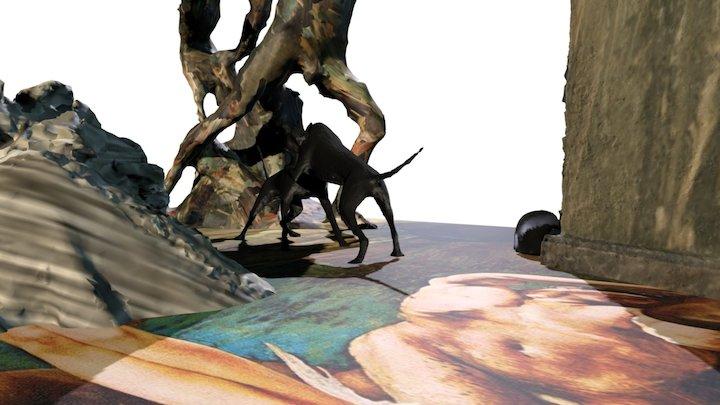 An exhibition portrait by Joël Riff 3D Model