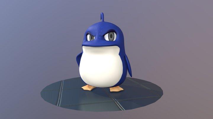 Gus - The Grumpy Penguin 3D Model