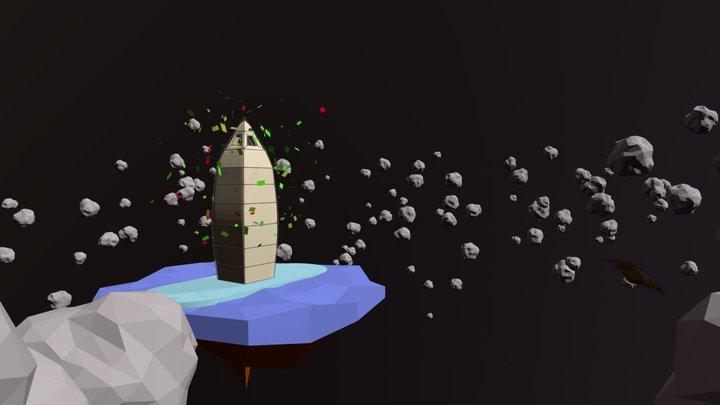 Obelisco en fuga. 3D Model
