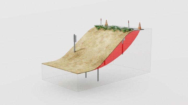 Cirtex® Civil - Shear Lock® Slope Retention 3D Model