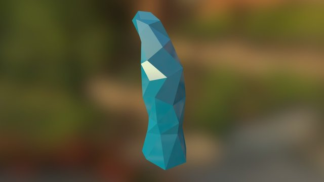 Small Crystal Spike 3D Model