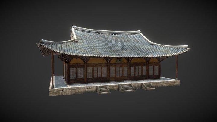 Korea National Treasure_018_영주 부석사 무량수전 3D Model