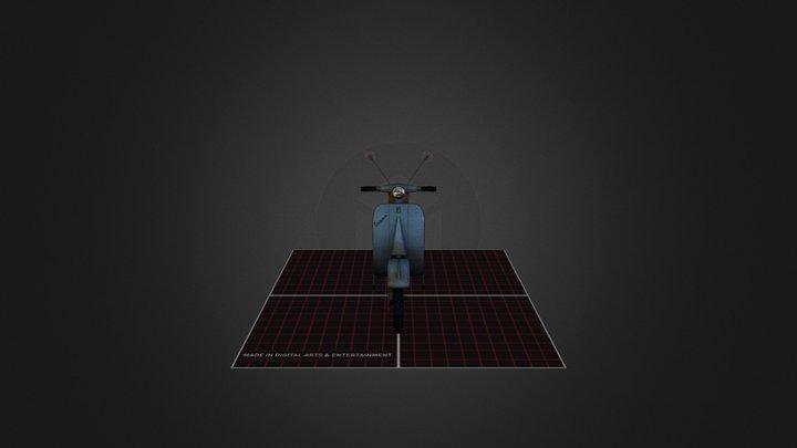 Retro Vespa 3D Model