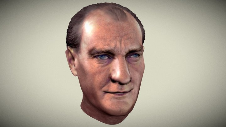 Mustafa Kemal Ataturk 3D Model