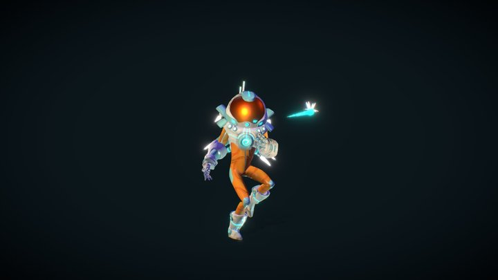 Klon - Astronaut Character 3D Model