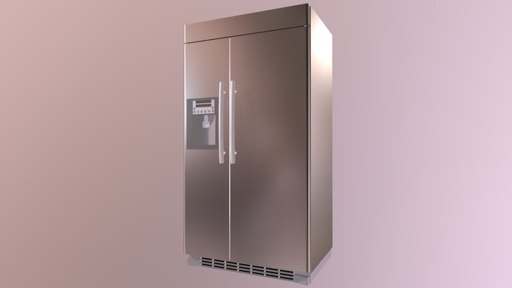 Not-too-modern fridge 3D Model