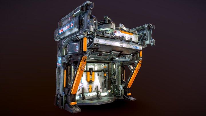Heavy Industry Sci-Fi Blast Door 3D Model