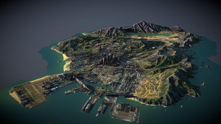 GTA:V San Andreas 3D Map 3D Model