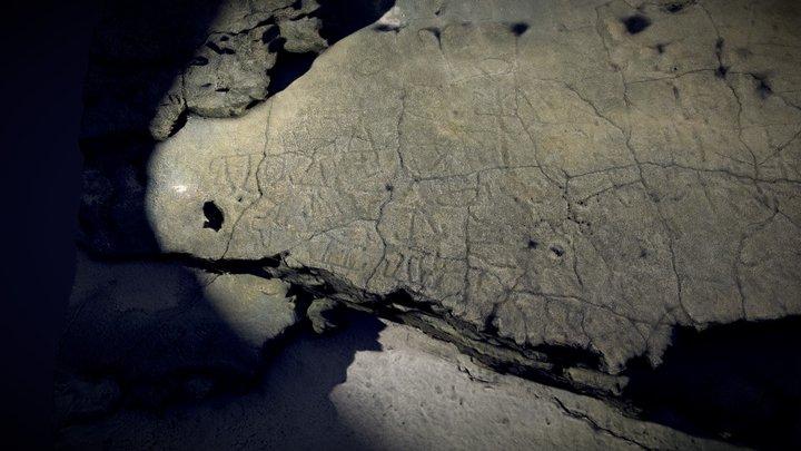 Rock Carvings Ha'apai Tonga 3D Model