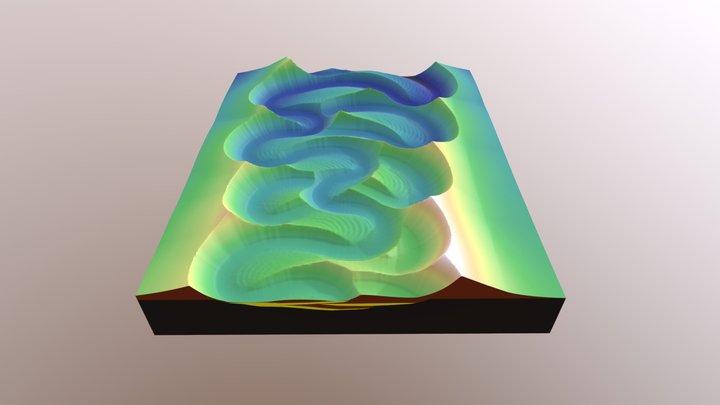 Model of submarine valley 2 3D Model
