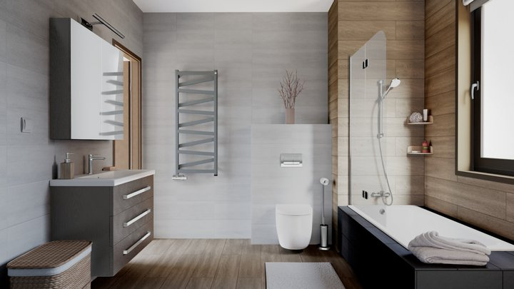 Terma Showcase Bathroom: VIPERA ONE radiator 3D Model