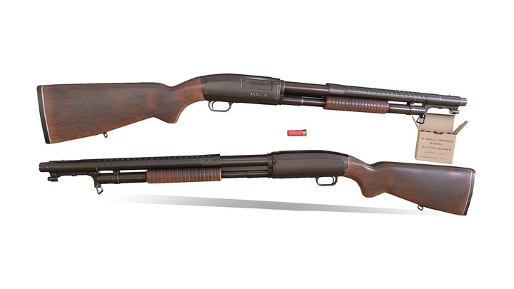 Winchester Model 12 - Trench Gun 3D Model
