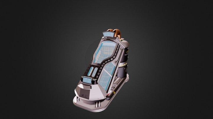 Cryopod 3D Model