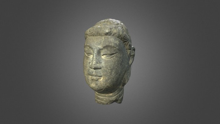 Carved Stone Buddha Head (Mec. C MS 2016-17) 3D Model