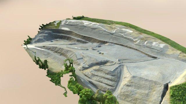 LATITUDE DRONE - Relevé de carrière 3D Model