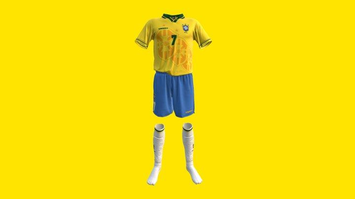 Seleção Brasileira 1994 - Uniforme Titular 3D Model