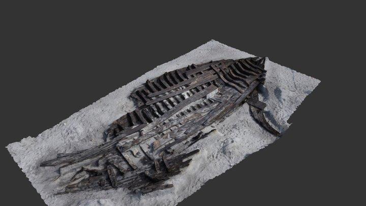 KNV804 Skibsvrag Køge 3D Model