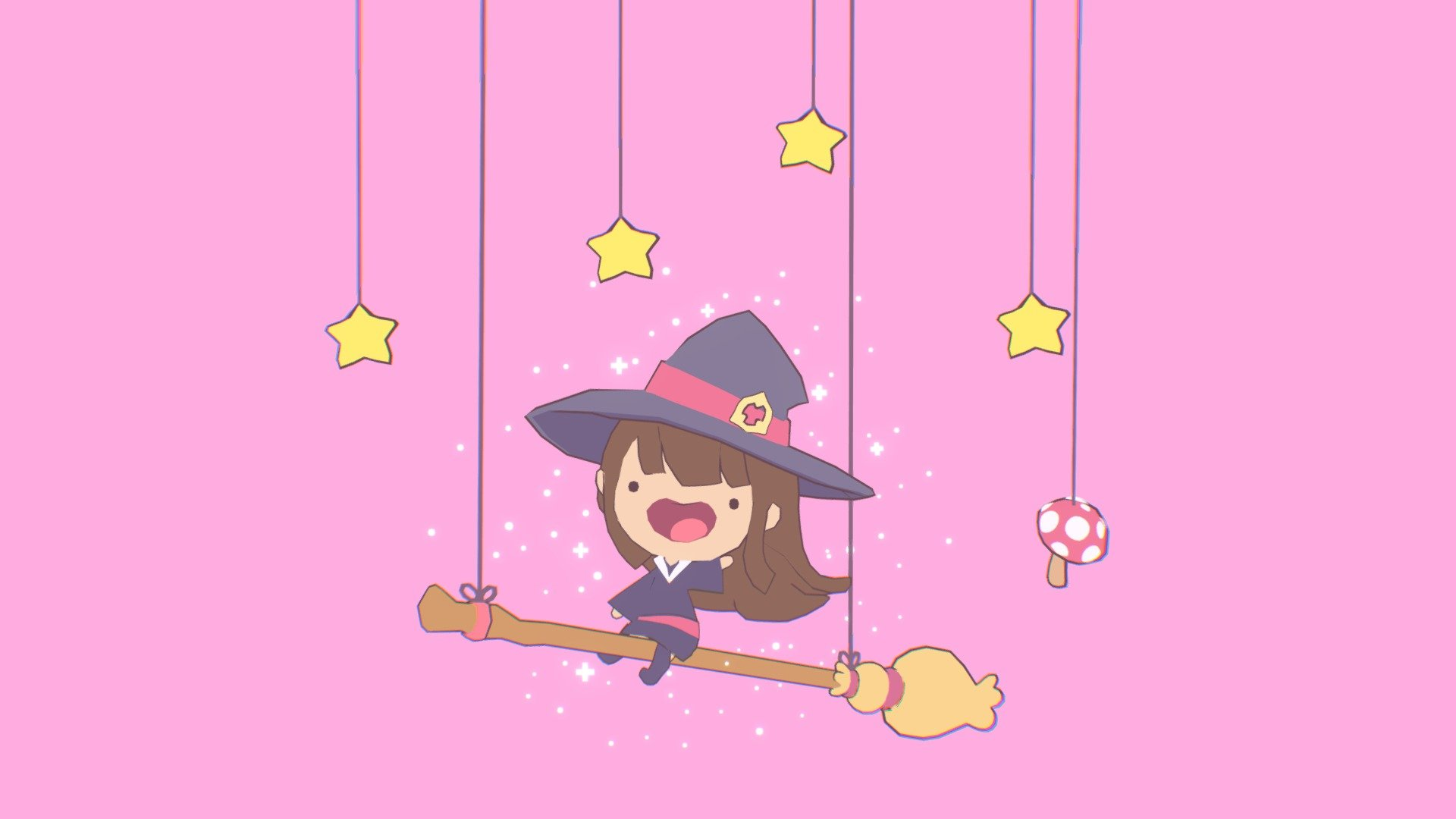 Akko Little Witch Academia 3d Model By Cyaleys Cyaleys