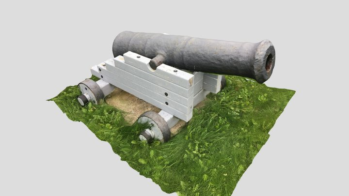 O'Reilly House cannon 3D Model