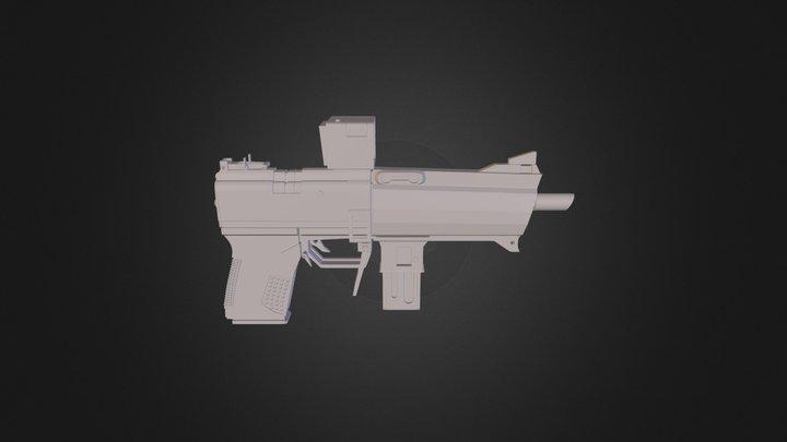 Borderlands2 Pistol 3D Model
