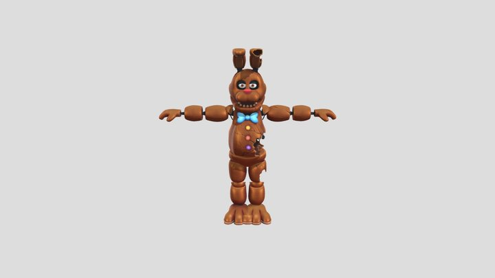 Chocolate Bonnie Special Delivery 3D Model