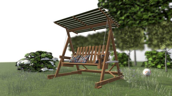 Садовые качели 3D Model