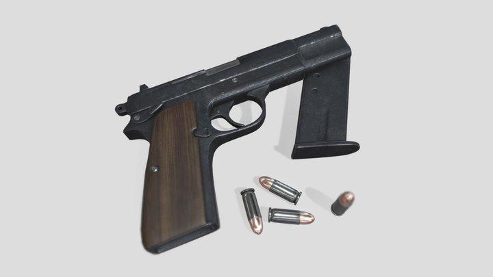 Browning Hi-Power 3D Model