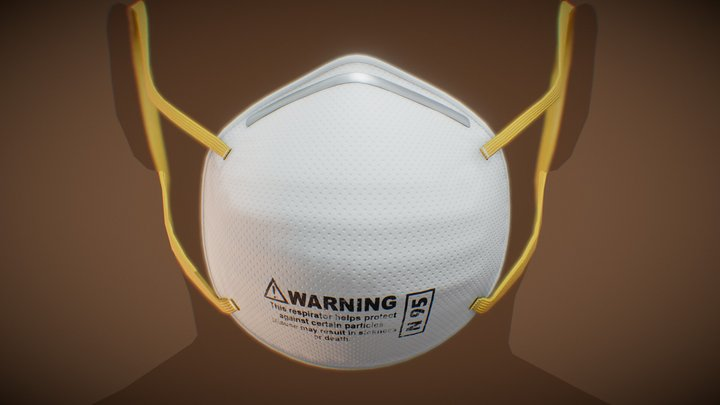 N95 Mask 3D Model