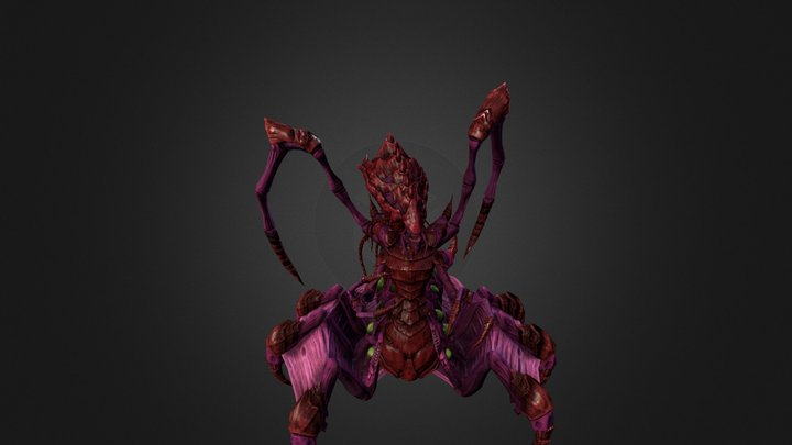 Queen Zerg 3D Model